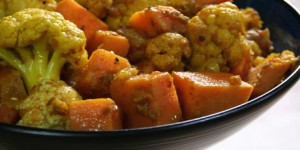 cauliflower-sweet potatoe