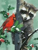 christmas racoon