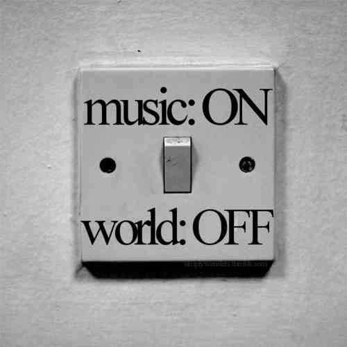 music on music off